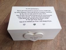 Shabby Personalised Chic Husband Wife Wedding Or Anniversary LARGE Keesake Box